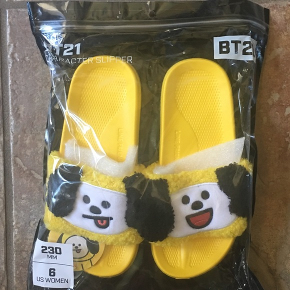 7c678e0dc556 Official BTS BT21 CHIMMY Slippers